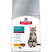 Hill's Science Diet Adult Indoor, alimento seco para gatos adultos de interiores, receta de pollo, bolsa de 7 kg.
