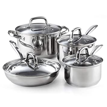 Amazon.com: Cook N Home 02606 8-Piece Stainless Steel Cookware Set on wish i was painting, wish i was cooking kitchen, wish i was toys, wish i was kitchen playset, wish i was dolls, wish i was cleaning set,