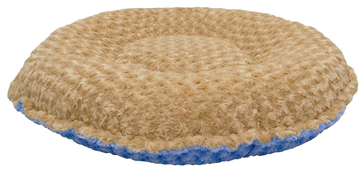 M- 36\ BESSIE AND BARNIE Camel pink bluee Sky Luxury Ultra Plush Faux Fur Bagelette Pet Dog Bed (Multiple Sizes)