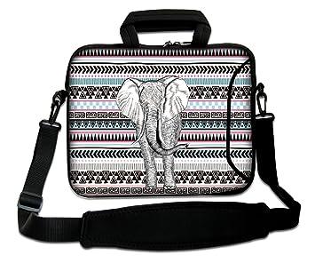 Luxburg: Bolso Bandolera para Ordenador portátil, 13 Pulgadas (250 x 330 mm), con asa, Flexible; Motivo: Elefante y triángulos: Amazon.es: Informática