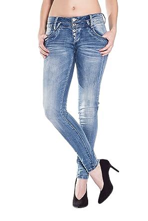 e3c7049f36fa Blue Monkey Damen Skinny Jeans Anny-1600 32/32: Amazon.de: Bekleidung