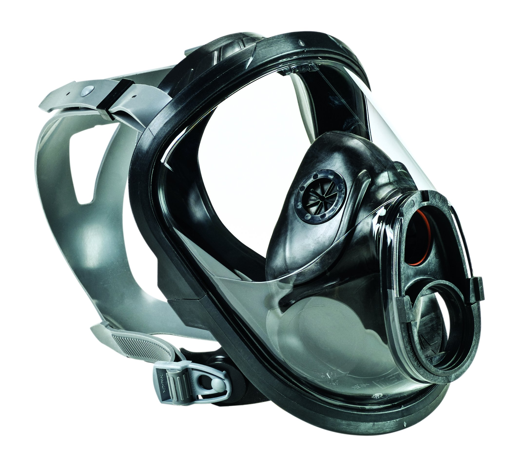 MSA 10083794 Advantage 4100 Series Full-Facepiece Silicone Respirator with Rubber Head Harness, Single-Port, Medium