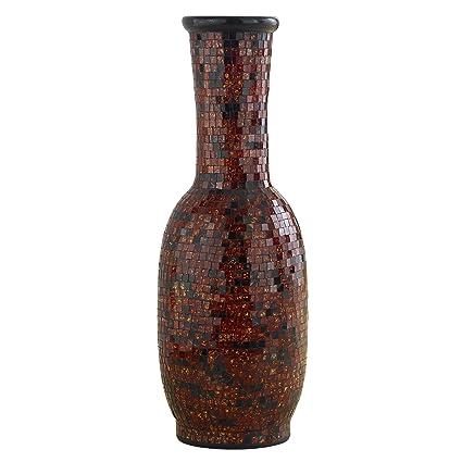 Amazon Polivaz Dv Mos Ln M Cop Aged Copper Mosaic Floor Vase