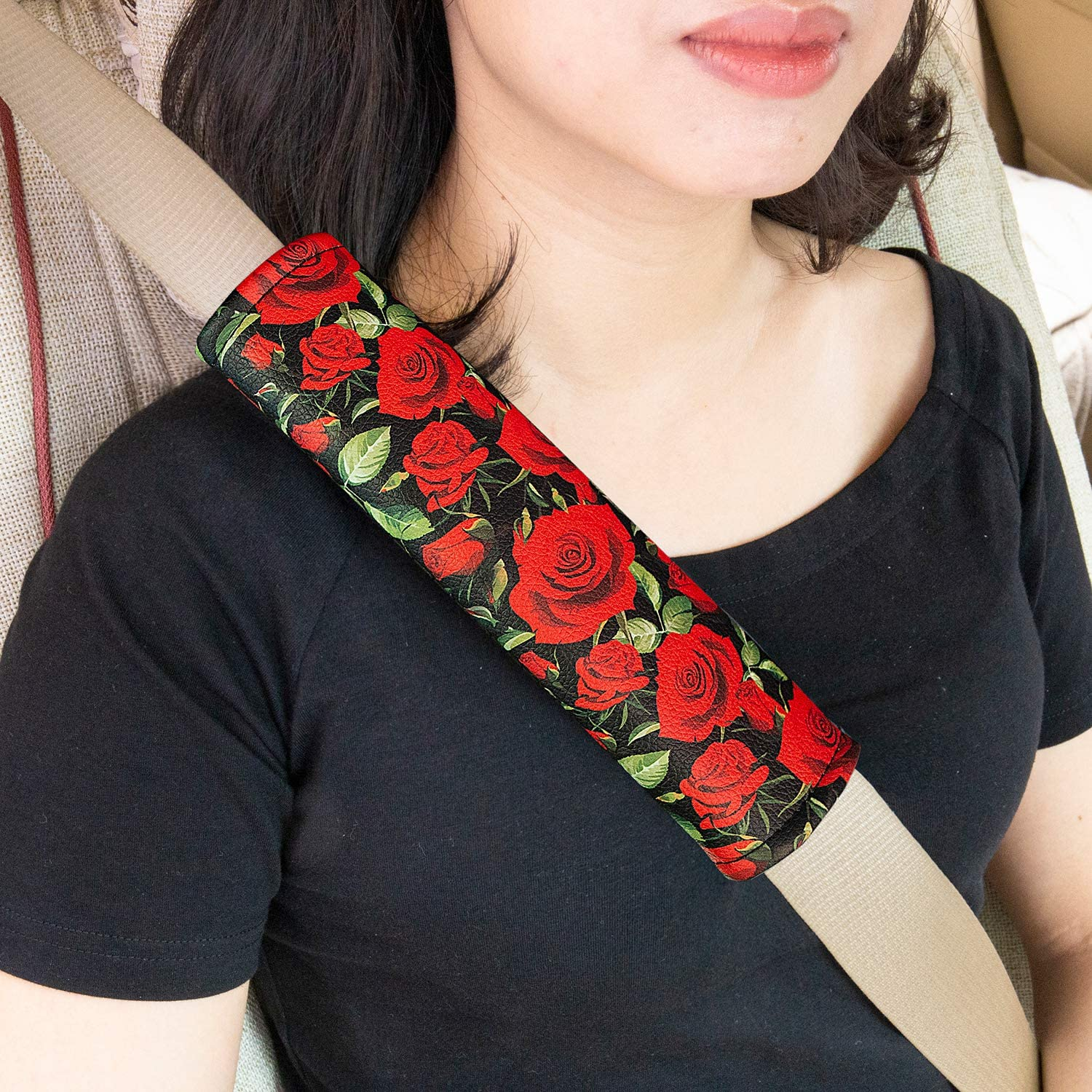Camouflage Adult Seat Belt Shoulder Strap Covers Harness Pad for Car//Bag,Soft Comfort Helps Protect You Neck Shoulder from The Seat Belt Rubbing Evankin 2 Pack Universal Car Seat Belt Pads