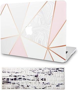 KECC MacBook Air 13 Inch Case Plastic Hard Shell Cover A1466//A1369 White Marble 2