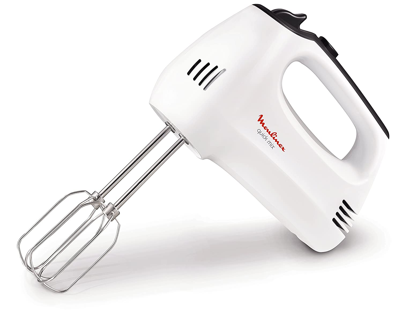 Moulinex HM3101 Quick Mix Sbattitore Elettrico con Fruste e Ganci Impastatori Groupe Seb