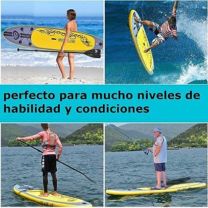 COSTWAY Tablas Paddle Hinchables Remo Surf Board Paddle Board Stand Up Set 335 * 76 * 15cm Inflable: Amazon.es: Deportes y aire libre