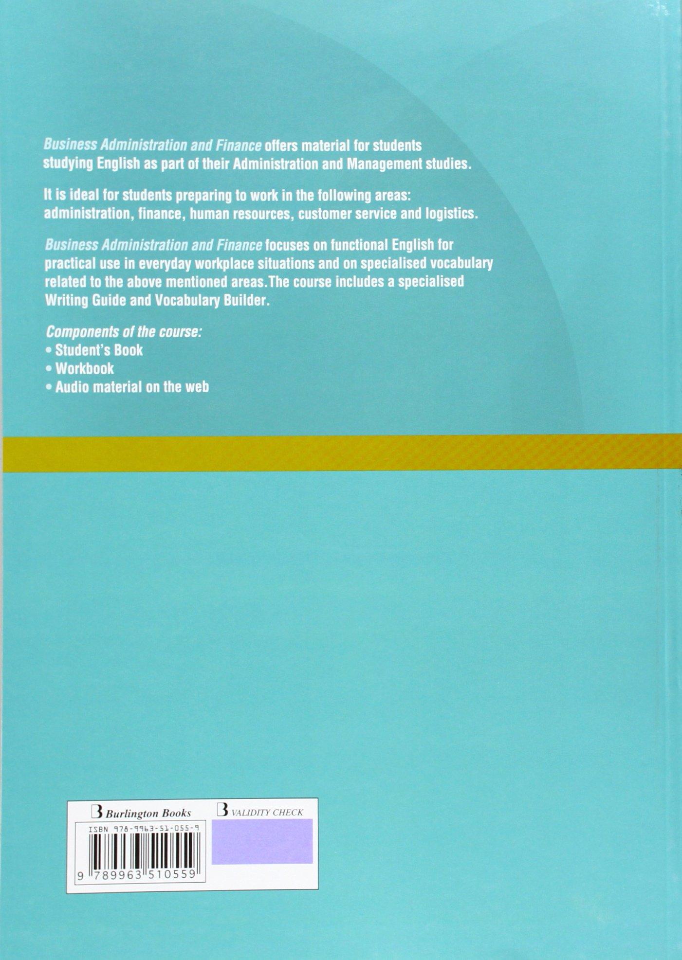 Business Administration Finance Sb Gs Burlington Books Amazon Es