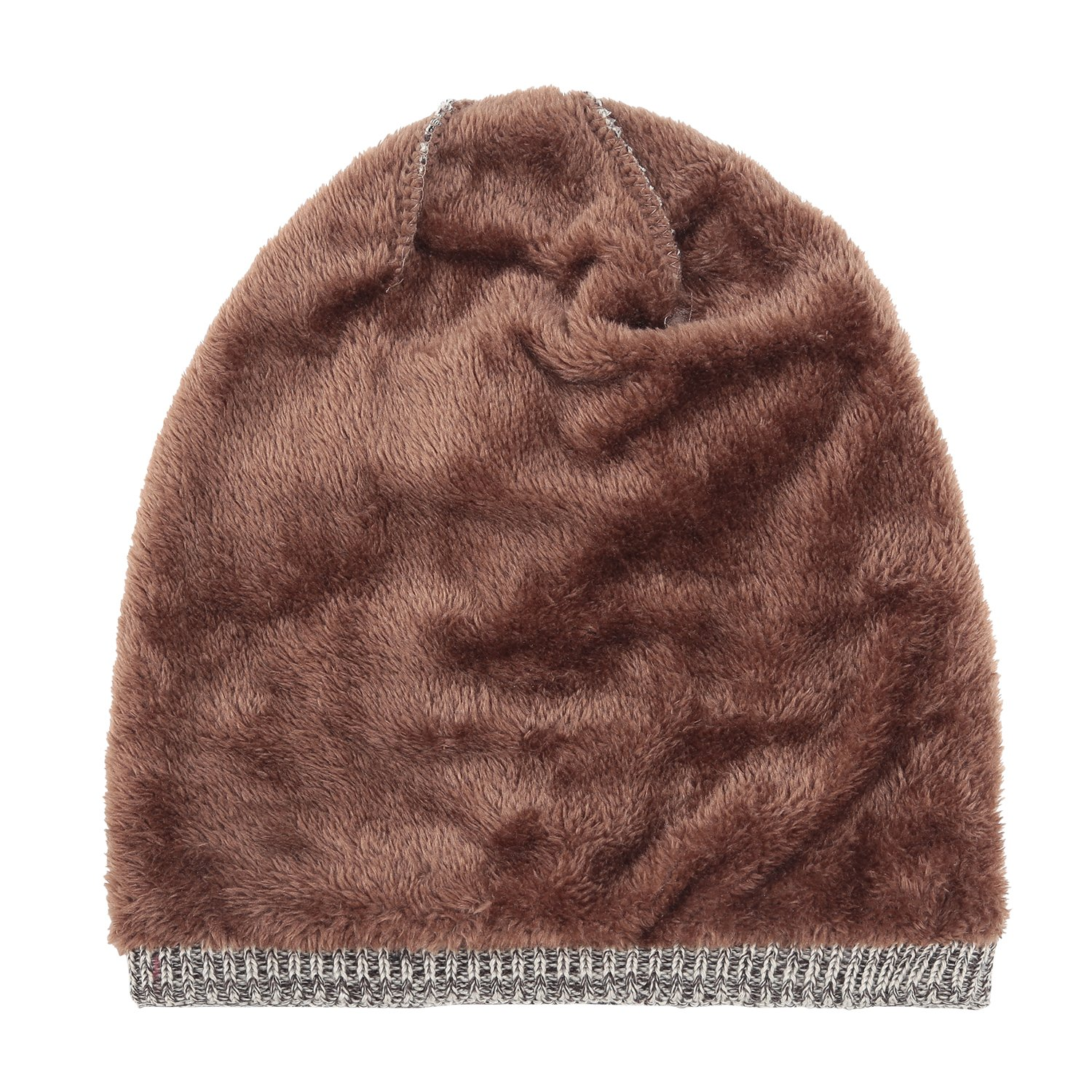 b014297df9e REDESS Beanie Hat for Men and Women Winter Warm Hats Knit Slouchy Thick  Skull Cap(2 Packs Black Brown) - nmfk6   Skullies   Beanies   Clothing
