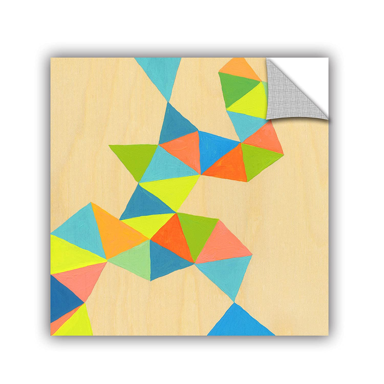 ArtWall Jan Weisss Shapes at A Cellular Level 3 Removable Wall Art Mural 14X14