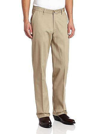 c17dd94c Wrangler Men's Riata Flat Front Relaxed Fit Casual Pant, Khaki, 28x30