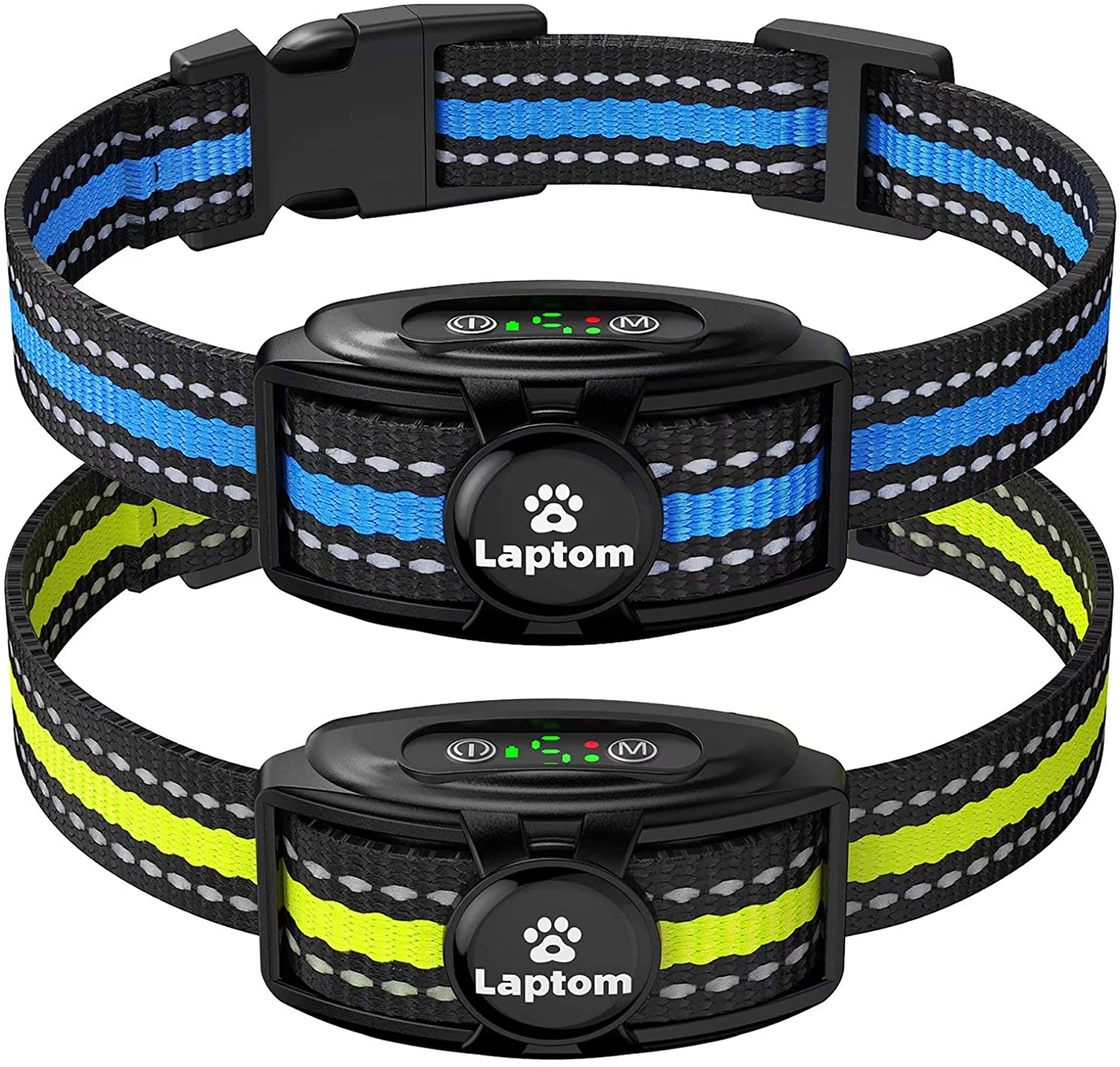 2 Pack Smart Dog Bark Collar - 5 Adjustable Sensitivity/Vibration&Sound/Rechargeable/IPX7 Waterproof - Bark Control Training Collar for Small Medium Large Dog