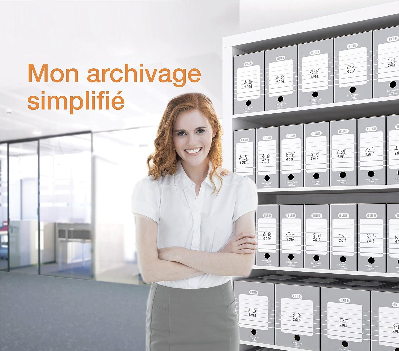 20 St/ück Ropipack Archiv-Stehsammler Zeitschriftensammler Archivbox Grau Karton 257 x 77 x 317 mm Breit