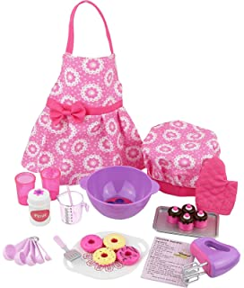 click nu0027 play doll baking set with apron and chef hat perfect for 18