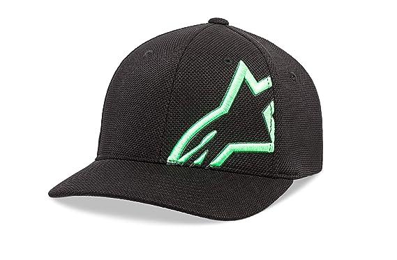 a4ced2a6 Alpinestars Unisex-Adult's Corp Shift Mock Mesh Hat, Black/Green, ...