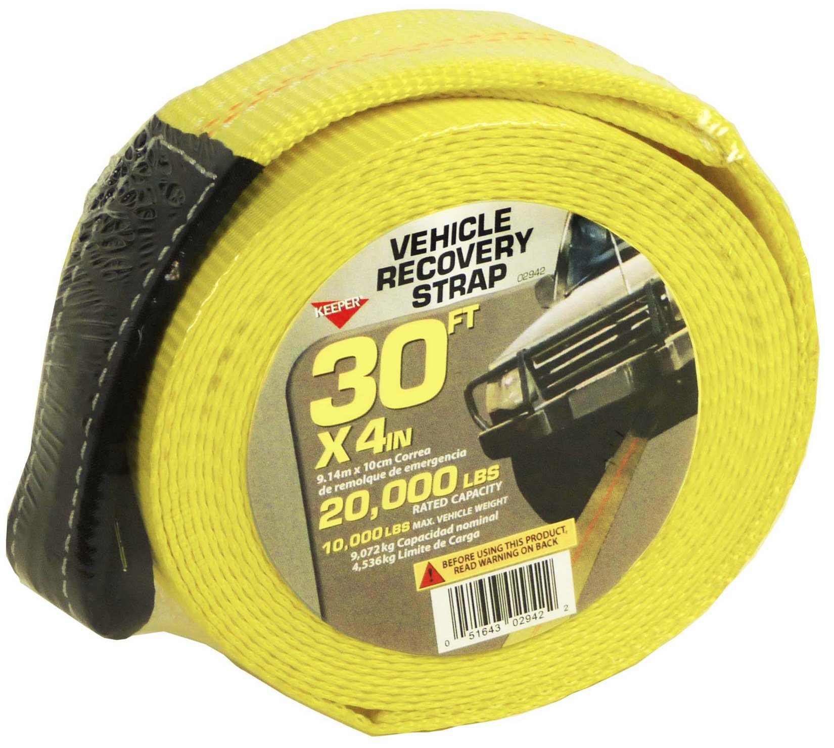 Keeper 02942 30' x 4'' Recovery Strap by Keeper