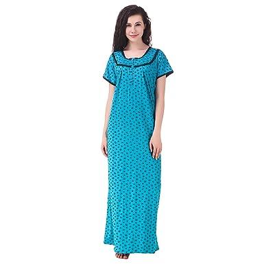 MILIT Women s Pure Cotton Printed Nighty (mi1803 fe1437682