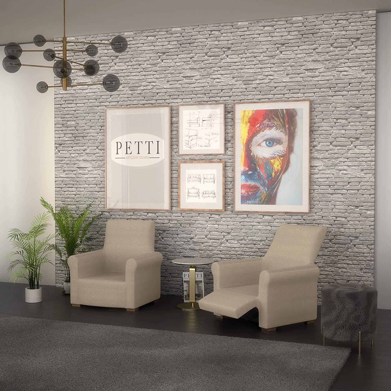 PETTI Artigiani Italiani Crema, Relax, Funda Sillon Elastica, 100% Made in Italy, 80 a 100 cm