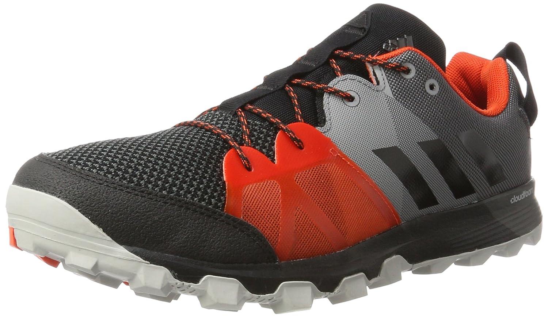Adidas Kanadia 8.1 TR M, Zapatillas de Running para Hombre 40 2/3 EU|Negro (Negro - (Negbas/Negbas/Energi))