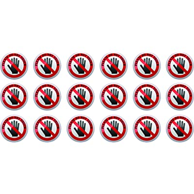 StickerTalk Do Not Touch Vinyl Stickers, 1 Sheet of 18 Stickers, 1 inch by 1 inch Each: Office Products