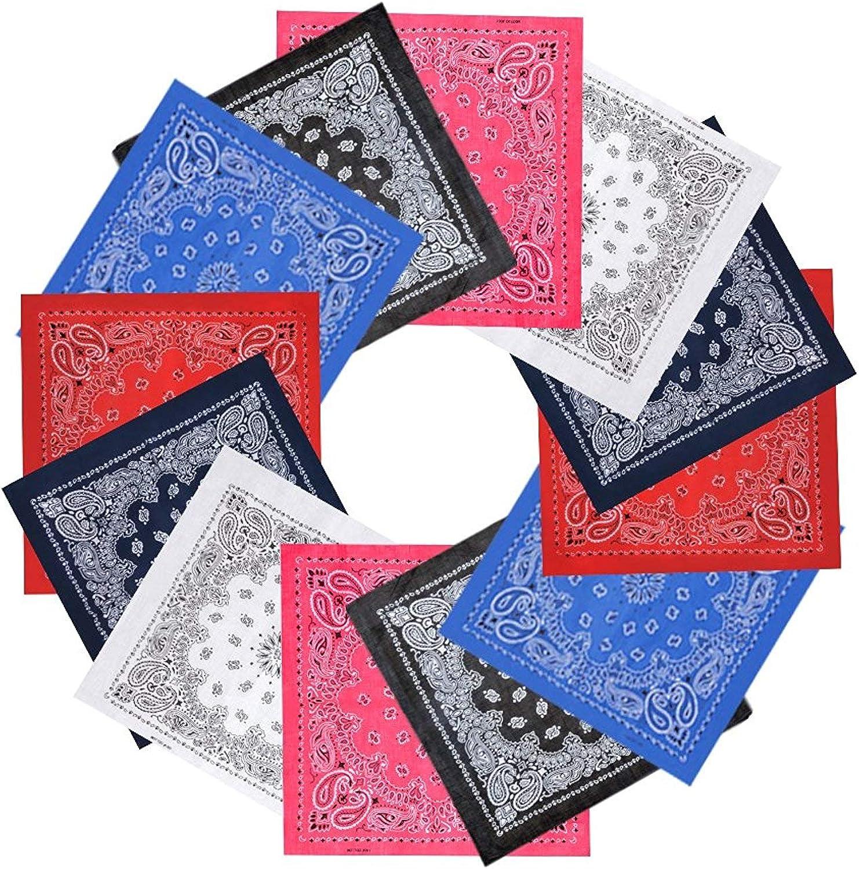 Kopftuch Bandana Paisley Kopftuch Halstuch Tuch Königsblau Rot Set Weiß