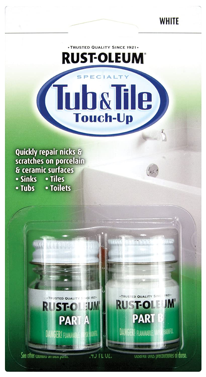 rust oleum 244166 specialty kit tub and tile touch up white ebay. Black Bedroom Furniture Sets. Home Design Ideas