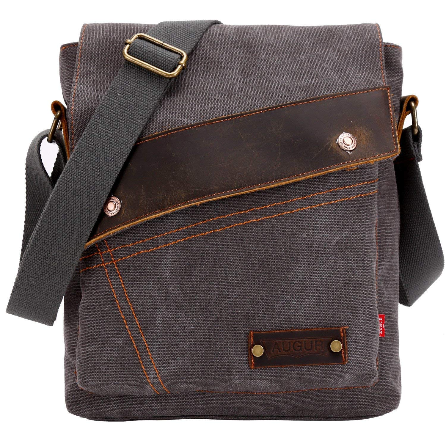Sechunk Canvas Messenger Bags Shoulder Bags Crossbody Bags Purse Daypack  for Men Women 32358f441dc