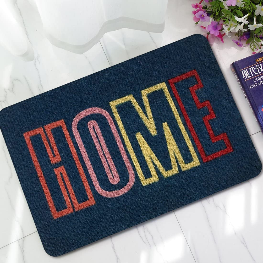 HBOS Non-Slip Modern Entrance Floor Mat Indoor//Outdoor//Bathroom//Living Room//Kitchen Mats-17.7x27.6inch
