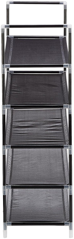 90.5 X 87 X 29.5 cm Relaxdays Scarpiera XL Fino a 25 Paia di Scarpe Metallo Bianco