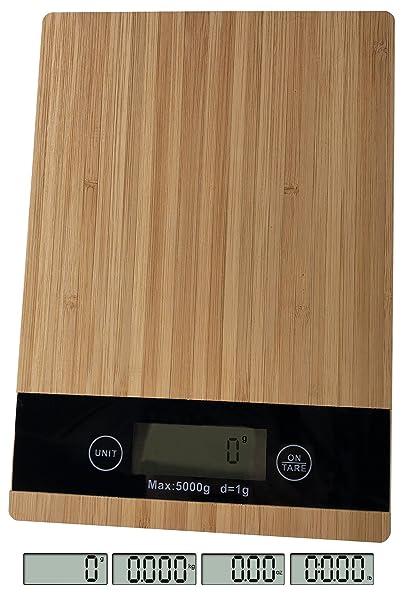 OSVINO Báscula digital compacta de cocina para alimentos, respetuosa con el medio ambiente, plataforma