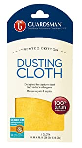 Guardsman Wood Furniture Dusting Cloths - 1 Pre-Treated Cloth - Captures 2x The Dust of a Regular Cloth, Specially Treated, No Sprays or Odors - 462100