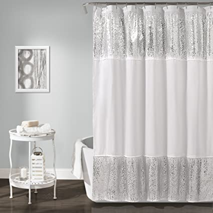 Amazon Lush Decor Shimmer Sequins Shower Curtain 70 X