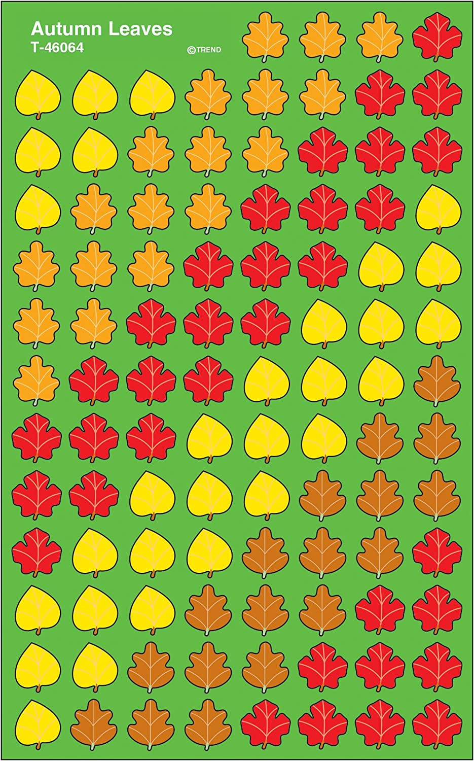 Trend Enterprises Inc. Autumn Leaves superShapes Stickers, 800 ct
