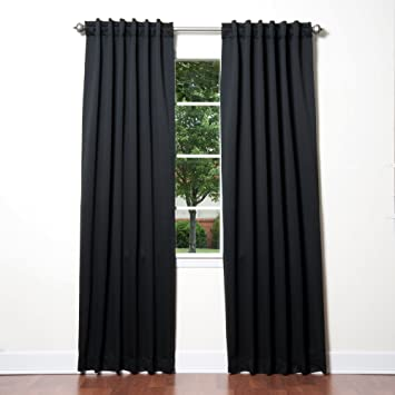 Curtains Ideas cold weather curtains : Amazon.com: Best Home Fashion Thermal Insulated Blackout Curtains ...