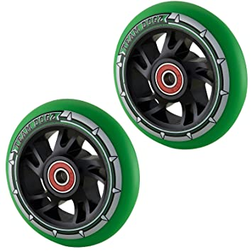 Team Dogz 100mm Swirl Scooter Wheels - Black Cores with Neon ...