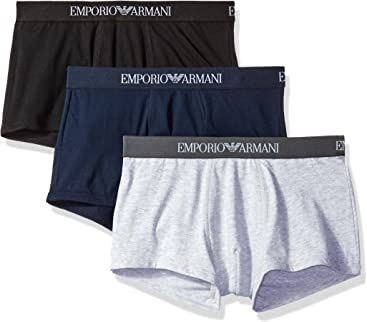 Emporio Armani Mens 3-Pack Cotton Trunks