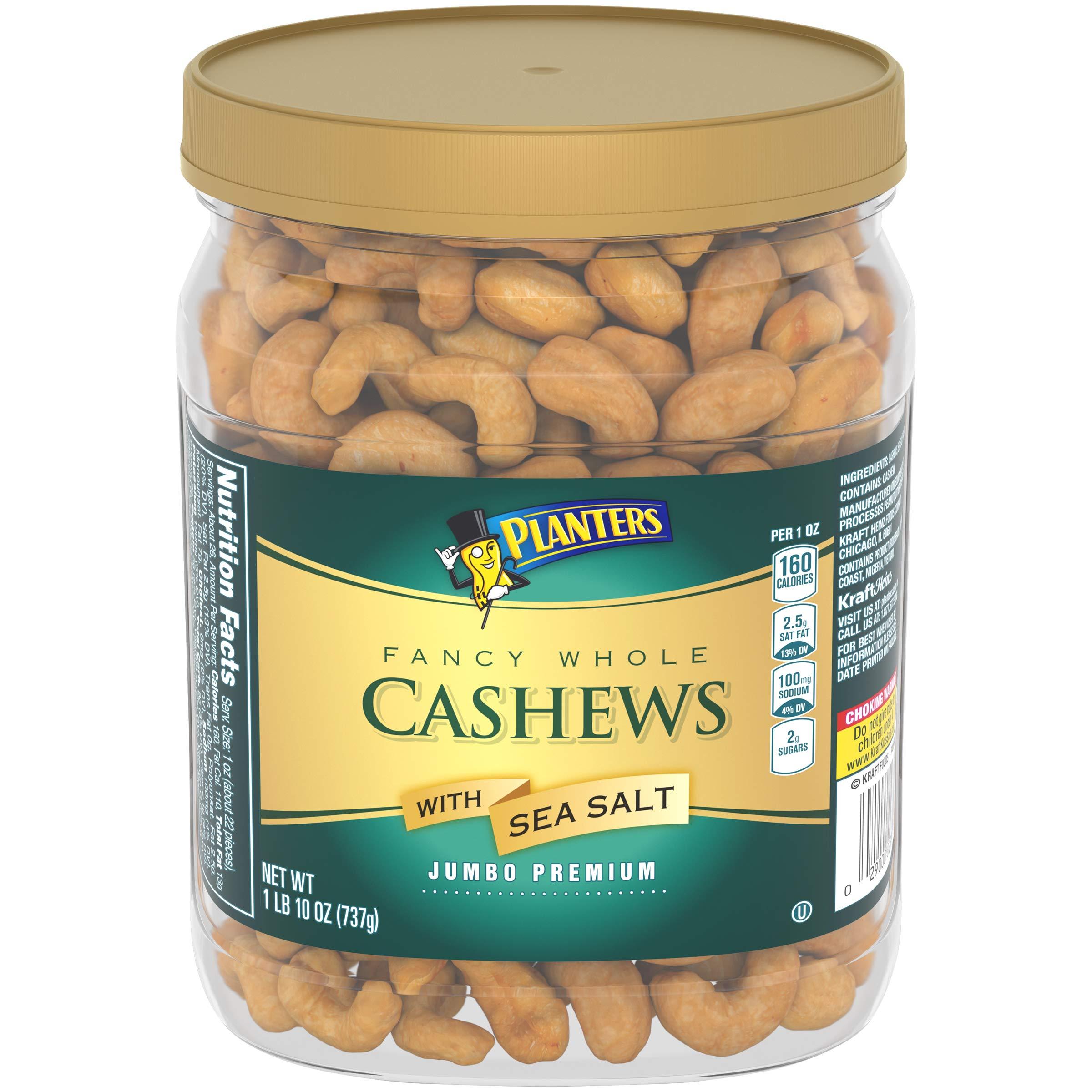 Planters Fancy Whole Cashews With Sea Salt, 26.0 oz Jar by Planters