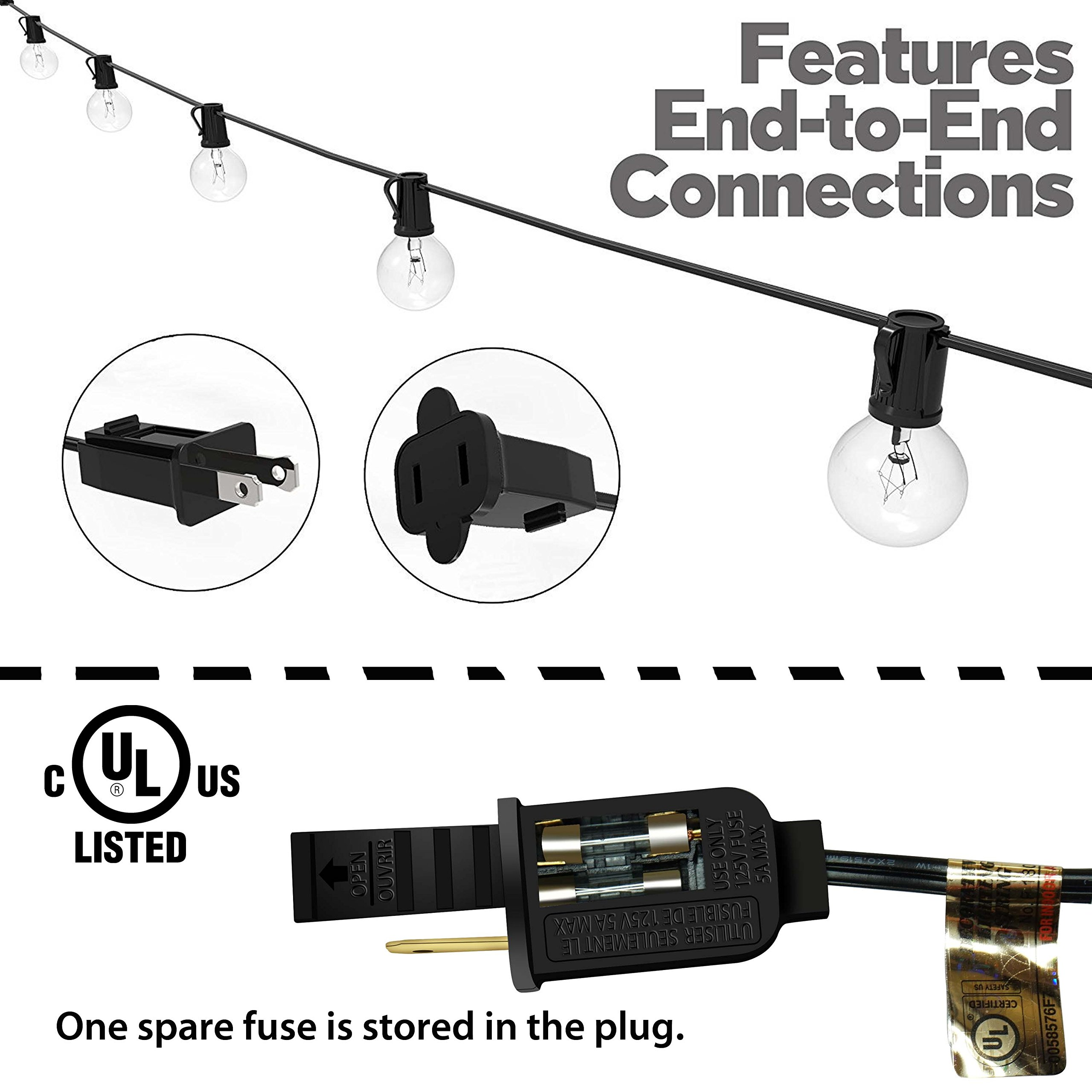 String Lights, Lampat 25Ft G40 Globe String Lights with Bulbs-UL Listd for Indoor/Outdoor Commercial Decor by LAMPAT (Image #2)