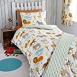 Kidz Club My Safari Junior/Toddler Duvet Cover and Pillowcase Set, Polyester-Cotton, Multi-Colour