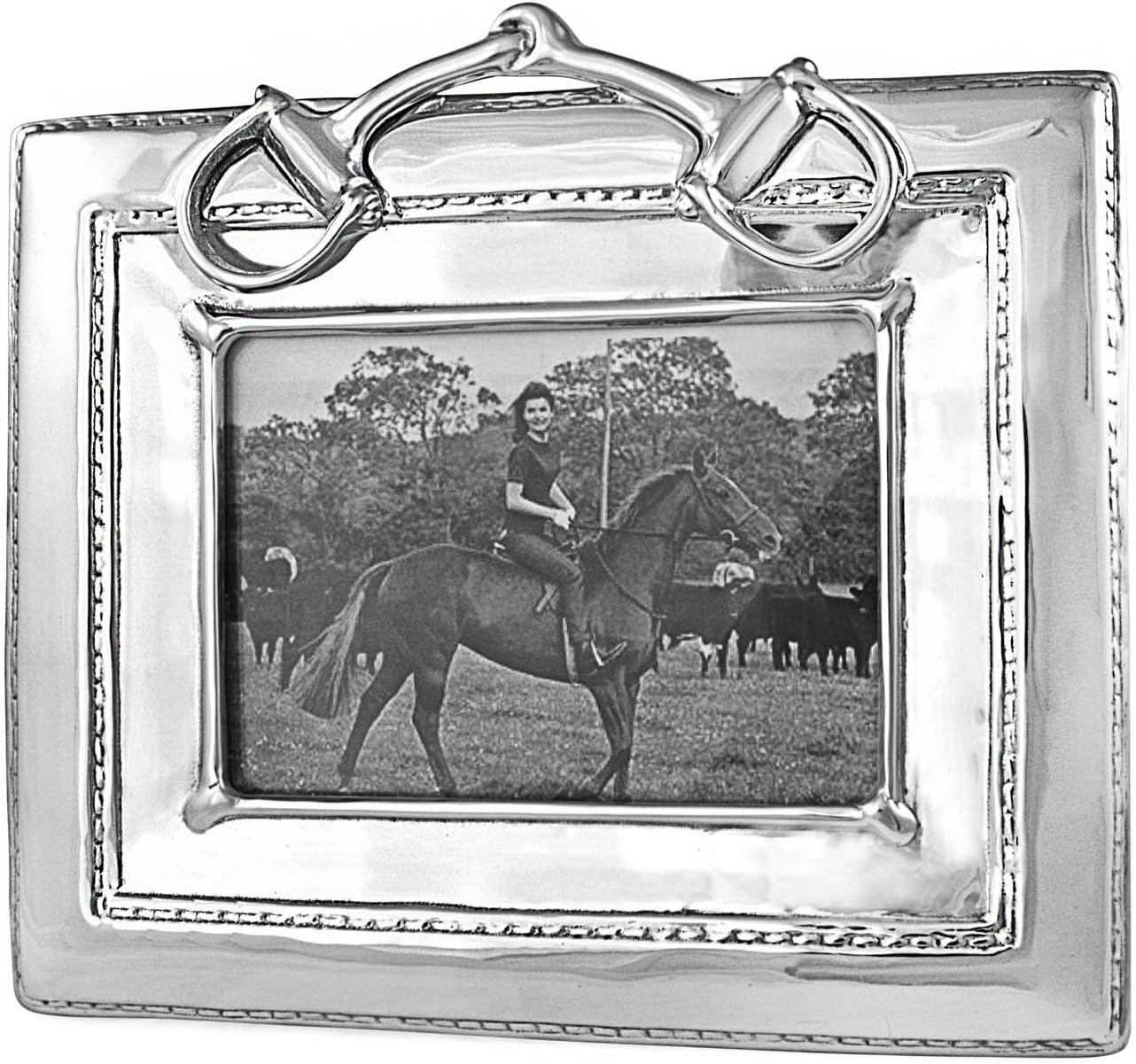 Beatriz Ball Equestrian Snaffle Bit 5X7 Frame
