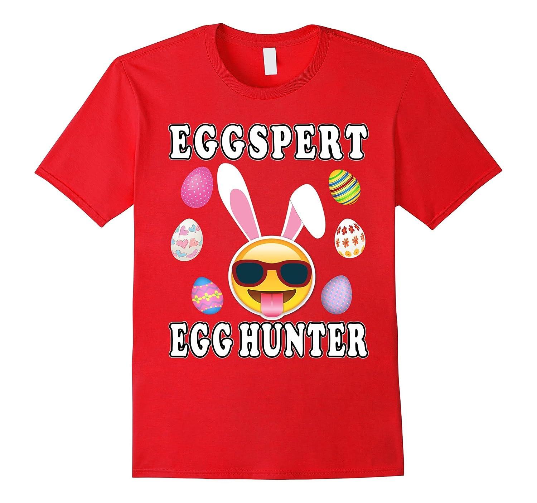 Kids T-Shirt Easter Egg Hunt Funny Easter Bunny Eggspert Egg Hunter