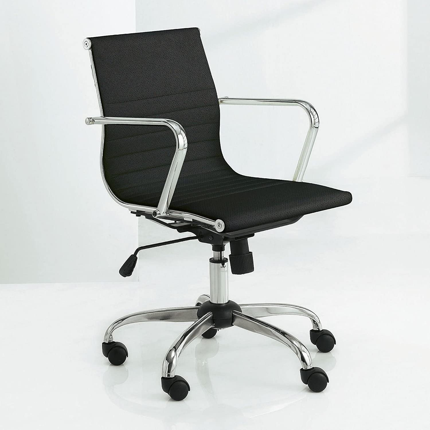 Tesco NEW Monroe Leather Effect Gas Lift Swivel Office Chair