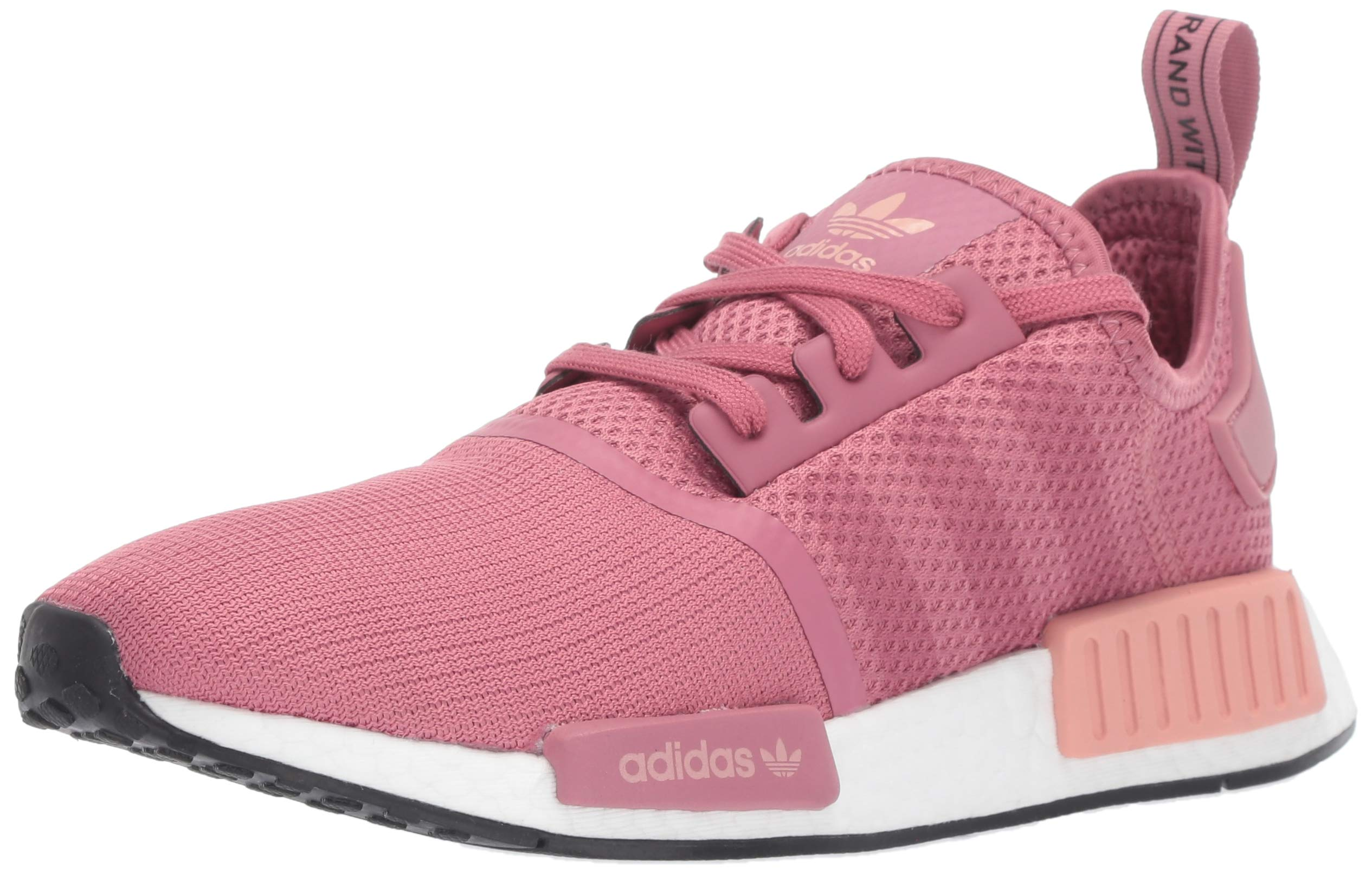 adidas Originals Women's NMD_R1 Running Shoe, Maroon/Trace Pink, 5 M US