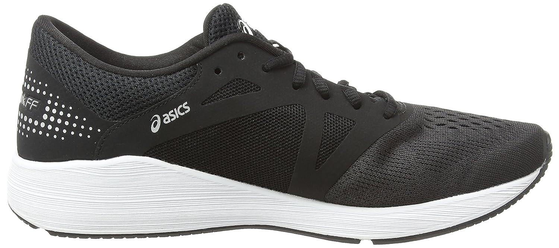 Asics Roadhawk FF, Chaussures de Running Compétition Femme, Gris (Glacier Grey/Black/Safety Yellow 9690), 39 EU