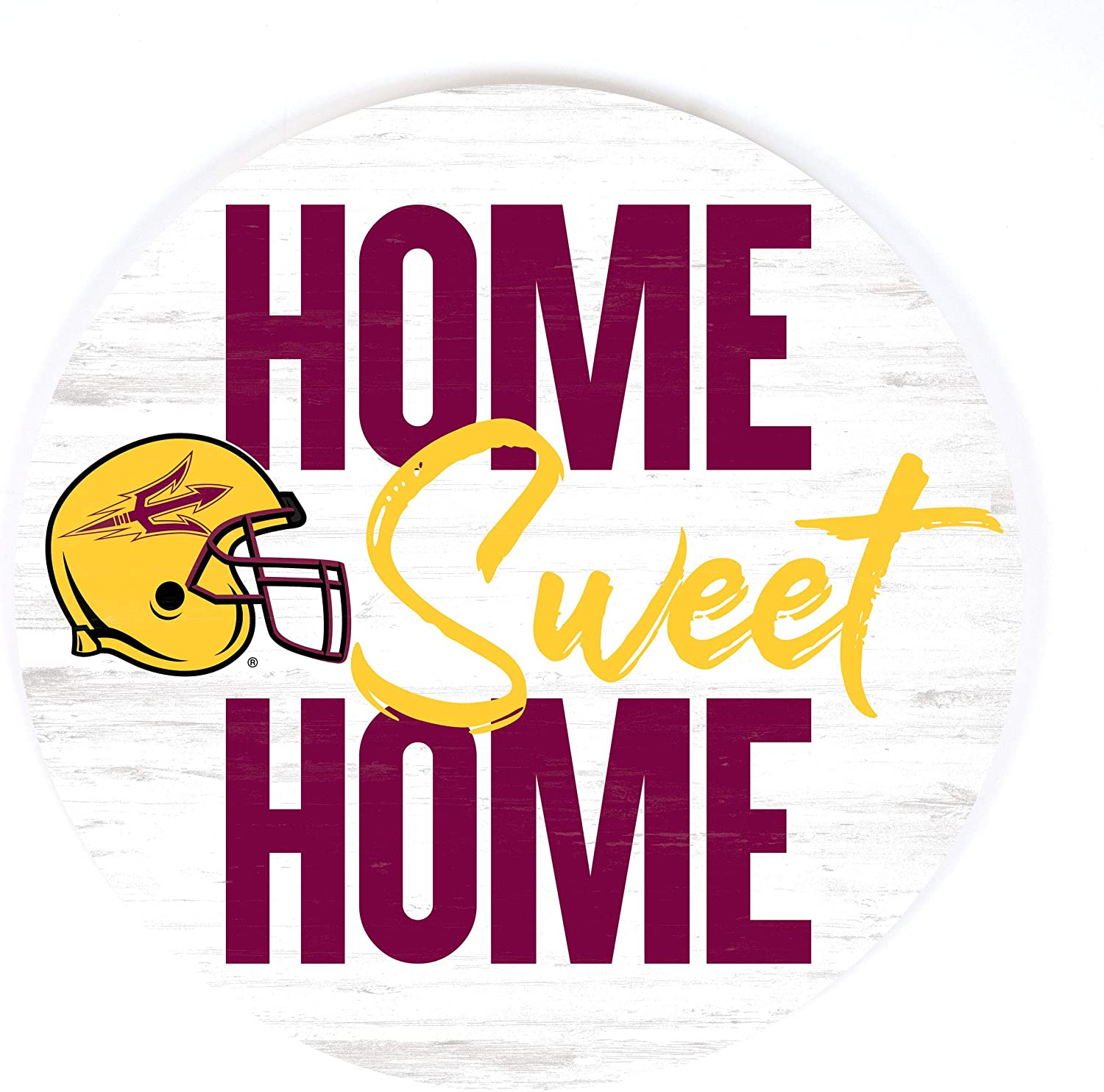 P. Graham Dunn Home Sweet Home Football Arizona State University NCAA 17 x 17 Wood Barrel Top Sign