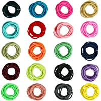 200pcs Mix Colors Elastic Hair Ties 2mm Hair Holders Bright Color Hair Accessories for Baby Girls Infants Toddlers