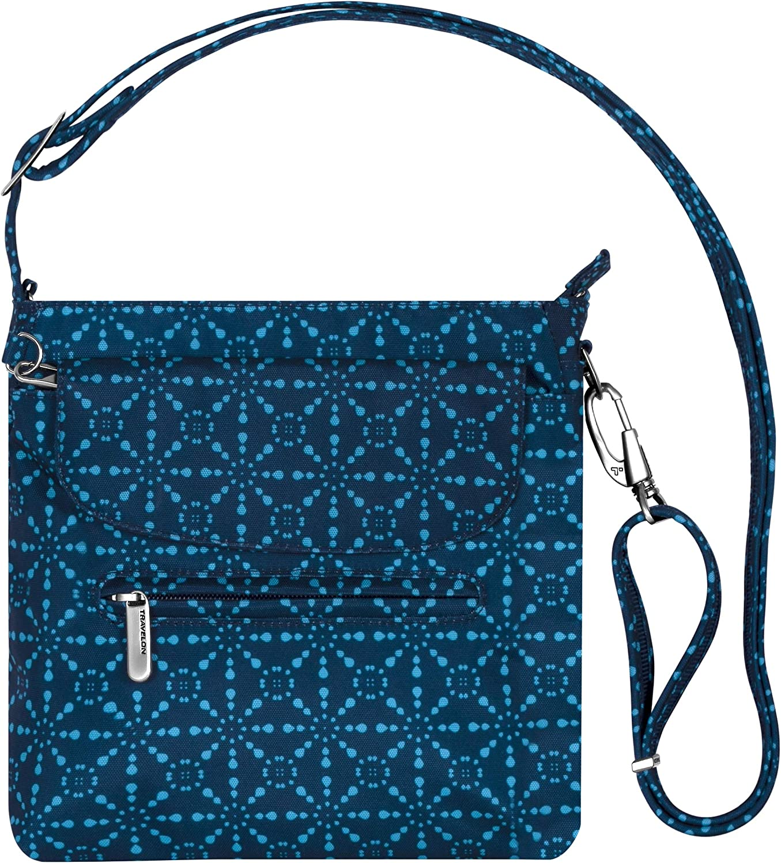 Travelon Anti-Theft Classic Mini Shoulder Bag, A Geo Tile, One Size