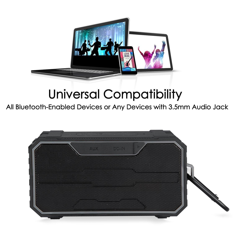 Sonas Sounds Traveler Portable Outdoor Wireless IPX6 Waterproof Bluetooth Speaker