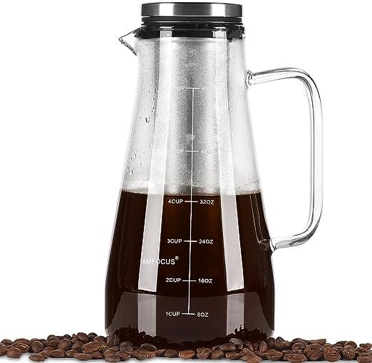 Cafetera de frío – Cafetera hermética de 120 g/1,5 qt – jarra de ...