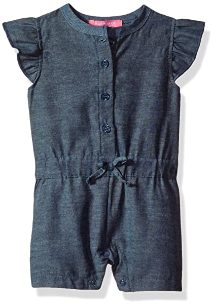 26e623cdd449 Amazon.com  Isaac Mizrahi Baby Girls  1 Piece Chambray Button Front ...